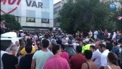 CHP Seçim Koordinasyon Merkezi Önünde Kutlama