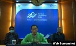 Kepala BPS Kecuk Suhariyanto saat memberikan konferensi pers online, Senin (3/8/2020). (Foto: Screenshot)