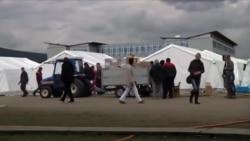 现场直击:奥地利最大难民营为过冬做准备