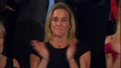 President Thanks Carryn Owens Widow of Spec Ops Officer Killed in Yemen