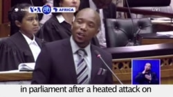 VOA60 Africa - South Africa: Beleaguered President Jacob Zuma survives a no-confidence vote