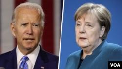 رهبران آلمان و آمریکا تلفنی روز دوشنبه گفت و گو کردند