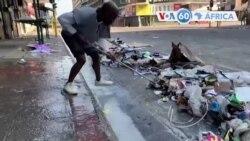 Manchetes africanas 15 Julho: Comunidades em Joanesburgo e Durban iniciaram remoção de lixo depois de tumultos e saques