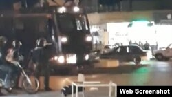 حضور ماشین ضدشورش یگان ویژه در سوسنگرد - چهارشنبه شب