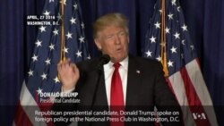 Trump Calls for New US Foreign Policy Direction