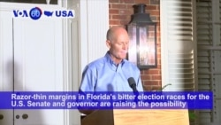 VOA60 America - Razor-thin margins in some Florida's bitter election races