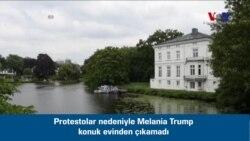 Melania Trump Protestolar Nedeniyle Bir Süre Konuttan Çıkamadı