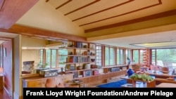 "Frank Lloyd Wright wrote, ""[Taliesin] was set so sun came through the openings into every room sometime during the day. Walls opened everywhere to views as windows swung out above the tree-tops..."" (Courtesy Frank Lloyd Wright Foundation/Andrew Pielage)"