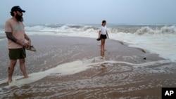Plaža u državi Njujork uoči udara tropske oluje Henri (Foto: AP /Craig Ruttle)