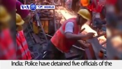 VOA60 World - 5 Detained After Indian Overpass Collapse