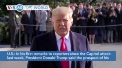 "VOA60 World - President Donald Trump said the prospect of his impeachment is causing ""tremendous anger"""