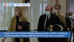 VOA60 World - French Ex-President Sarkozy Goes on Trial, Accused of Corruption
