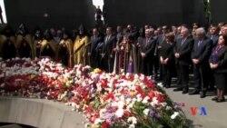 2017-04-25 美國之音視頻新聞: 亞美尼亞人紀念大屠殺事件 (粵語)
