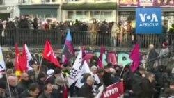 Retraites- début de la manifestation à Paris