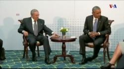 Histórico encuentro entre los mandatarios de EE.UU. y Cuba