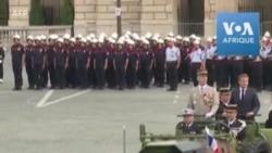 Fête du 14 juillet: mini-défilé militaire confiné place de la Concorde en France