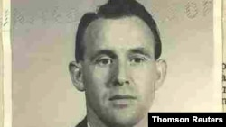 Friedrich Karl Berger poses in a photograph dated 1959 and released by the U.S. Department of Justice