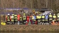 Rescates en la escena del choque de trenes en Alemania