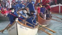 Venice Carnival Welcomes Visitors With Boat Parade