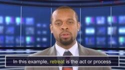 News Words: Retreat