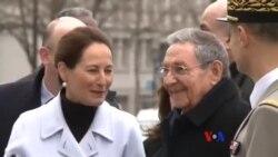勞爾•卡斯特羅對法國進行國事訪問