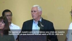 """Pence: Venezolanos huyen de su país """"para sobrevivir"""""""