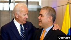 Joe Biden, de Estados Unidos,. e Iván Duque, presidente de Colombia. [Foto de archivo Presidencia de Colombia]