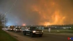 Au Canada, les incendies vident la ville de Fort McMurray de ses habitants