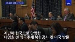 태영호 전 북한공사, 미 하원 증언