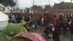 Refugees Held in Camp at Greece-Macedonia Border