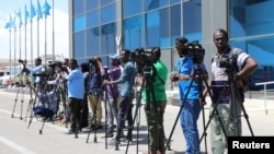 Somali journalists in Mogadishu, Somalia, December 29, 2019.