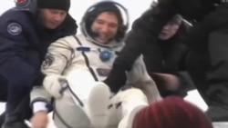 Aterrizan astronautas de la Estación Espacial Internacional