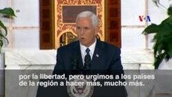"""Sobre Venezuela Pence urge a países de la región a """"hacer más"""""""