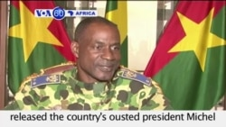 VOA60 Africa - Burkina Faso coup leaders say they have released the country's ousted president - September 18, 2015