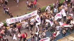 В Греции проходят протесты против закрытия гостелерадиокомпании ERT