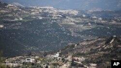 靠近土耳其邊境線的敘利亞北部重鎮金薩巴(資料照片)