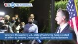 VOA60 America- Voters in the western U.S. state of California have rejected an effort to remove Democratic Governor Gavin Newsom