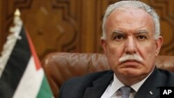 Palestinian Foreign Minister Riyad al-Malki (file photo)
