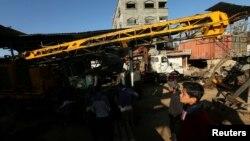 5일 가자 지구 팔레스타인 거주 지역에 공습이 발생했다.