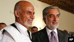 عبدالله عبدالله و اشرف غنی احمدزی، نامزدان انتخابات ریاست جمهوری افغانستان