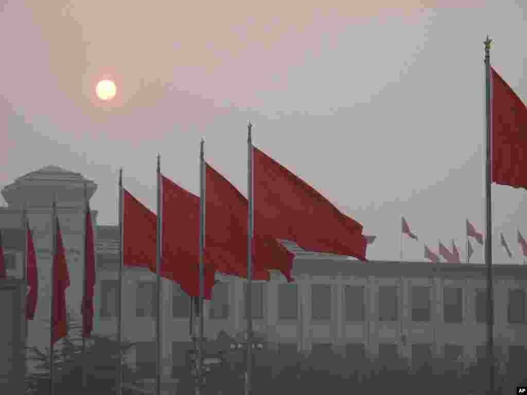3月5日早上的天安门广场