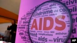 Áp phích đánh dấu Ngày AIDS Thế giới tại Seoul, Hàn Quốc, ngày 1/12/2015.