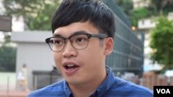 香港本土民主前線前成員李東昇 (美國之音湯惠芸拍攝)(資料照片)