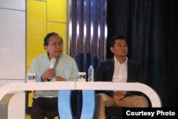 Rizal Ramli dan Harryadin Mahardika dari BPN Prabowo-Sandi.(Foto: Humas UGM)