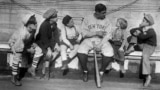 In his heyday, Babe Ruth was one of the highest paid athletes and most famous people in the world. Here, he tells children stories of his life from orphanage to baseball fame, November 29, 1924. (AP File Photo)