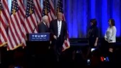 2016-07-17 美國之音視頻新聞: 川普與競選拍檔彭斯首次一齊露面