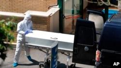 意大利羅馬附近一家敬老院4月15日有人因感染新冠病毒而死亡。