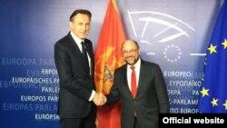 Ranko Krivokapić, predsednika parlamenta Crne Gore i Martin Šulc, predsednik Evropskog parlamenta.