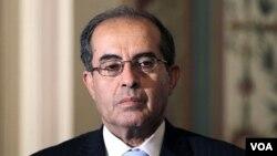 Mahmoud Jibril, ketua dewan eksekutif Dewan Transisi Nasional Libya, berkunjung ke Beijing (21/6).