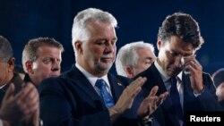 加拿大总理特鲁多参加3名清真寺枪击案遇难者的葬礼